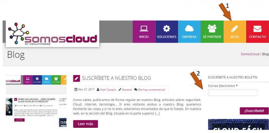 Suscripción Blog